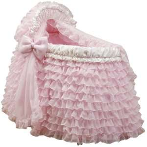 Baby Doll Bedding Little Ballerina Bassinet Set, Pink Baby