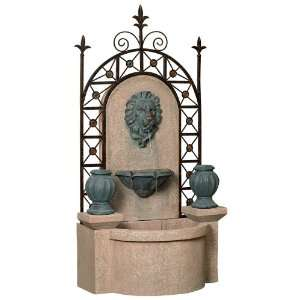 62 High Lion Head Wrought Iron Fountain