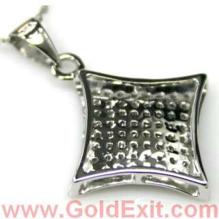 14K Gold Ladies Diamond Pendant Charm Cross Kite 0.25ct
