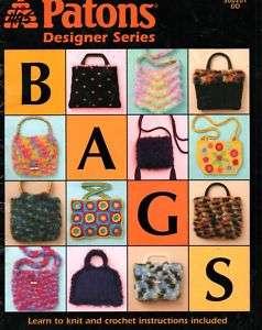 Knitting Crochet Pattern Purse Handbags 8 designs