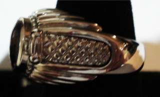 CAERLEON GOLDMAN KOLBER 14KT WHITE GOLD & STERLING RING CONFETTI