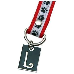 Dog Paw Print Letter L Pet Lover Charming KEYper Keychain
