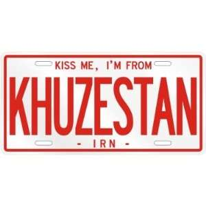 NEW  KISS ME , I AM FROM KHUZESTAN  IRAN LICENSE PLATE SIGN CITY