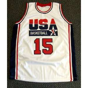 Magic Johnson Autographed White Team USA Jersey Dream Team PSA/DNA