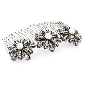 Marv Graff Fireworks Pearl Crystal Hair Comb Jewelry