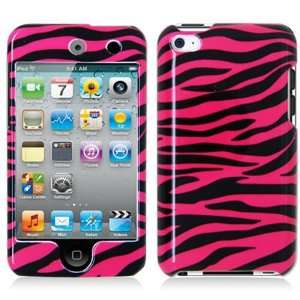 TOUCH 4 HOT PINK ZEBRA STRIPES PATTERN CASE  Players & Accessories