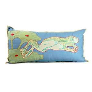 Lumbar Pillow   Frog   Fair Trade:  Home & Kitchen
