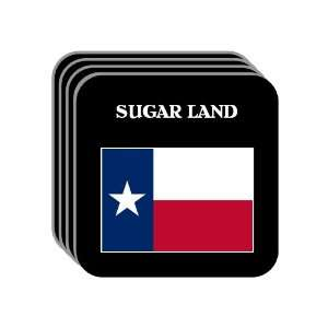 US State Flag   SUGAR LAND, Texas (TX) Set of 4 Mini Mousepad Coasters