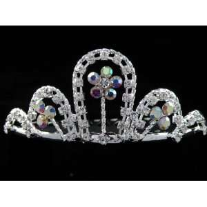 New Bridal Flower Girl Prom Party Crystal Tiara Comb 41