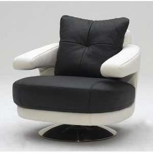 A 238 Modern Full Leather Swivel Chair