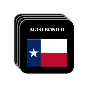 US State Flag   ALTO BONITO, Texas (TX) Set of 4 Mini