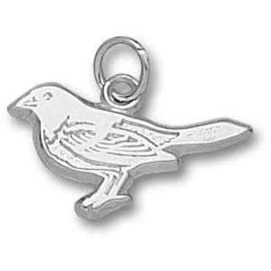 Baltimore Orioles MLB Bird 7/16 Pendant (Silver)  Sports