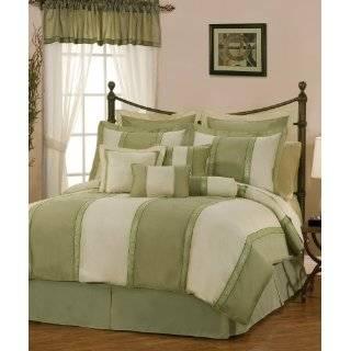 Queen Soft Micro Suede Comforter Set Bedding in a bag