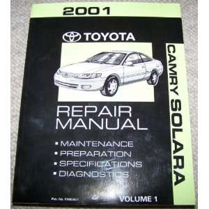 2001 Toyota Camry Solara Repair Manual (Volume 1) Toyota Motor Corp
