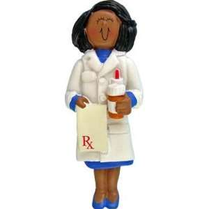 2320 Pharmacist Female Ethnic African American Personalized Christmas