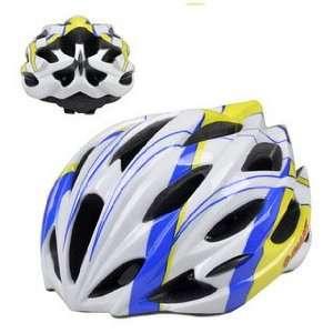 blue yellow helmet / the GIANT / one piece ultra light cycling helmet
