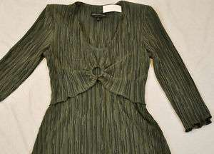 NWOT WOMENS GREEN DRESS by CONNECTED APPAREL SIZE 6