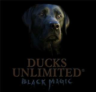 Ducks Unlimited T Shirt Youth Black Magic Black Lab NWT