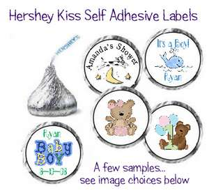 108~ Baby Shower Hershey Kiss Candy Wrapper Labels Kisses Favors