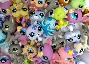 30pcs Littlest Pet Shop LPS Girl Toy Animal Figures Child Collection