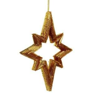 10 Bead Northern Star Ornament Gold (Pack of 6)