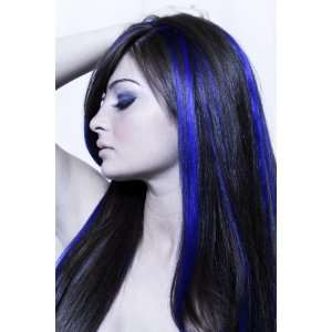 Remy Human Hair Highlight Set 18   4 Pcs  Blue: Beauty