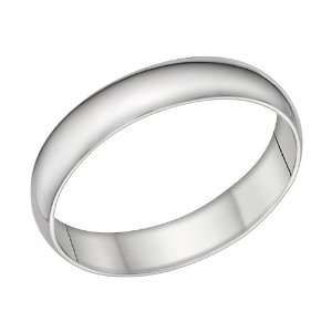 14k White Gold 5mm Comfort Fit Wedding Band Ring, Size 12 Jewelry