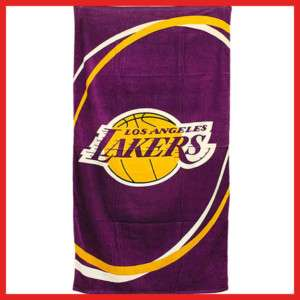 Los Angeles Lakers Beach Bath Towel 30x60 Cotton Purple