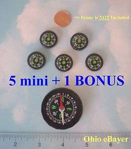 new 3/4 Small Mini Compasses for travel, navigation, directions, etc