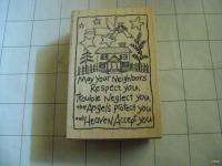 PSX G 2242 Neighbors Angel Rubber Stamp POEM