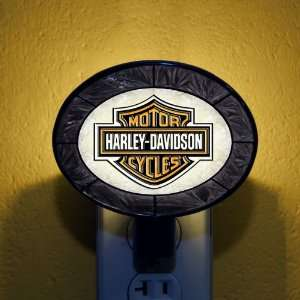 Black Harley Davidson Stained Glass Night Lights