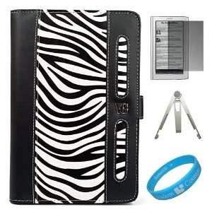 Black / White Zebra Print Executive Leather Portfolio Case