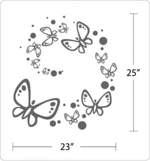 DANCING BUTTERFLIES   Wall Art Decals Stickers Nursery
