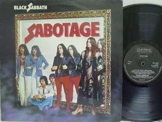 BLACK SABBATH   Sabotage LP (RARE UK Import on NEMS) EX