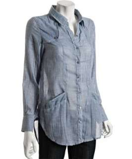 Free People We The Free blue chambray cotton shirt