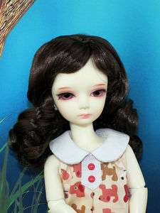 Long Wavy 6 7 inch Dark Brown Wig for Yo SD BB Super Dollfie BJD Doll