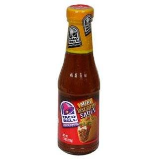 Taco Bell Restaurant Sauce, Hot, 7.5 Ounce Glass Bottles (Pack of 12
