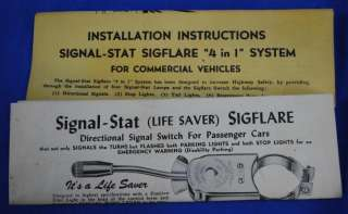 Stat 12v Lighted Turn Signal Switch w 4way Hot Rat Rod 1940s Sigflare