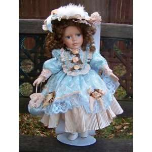 Porcelain Collectible Doll 17 Tall Limited Edition by Heirloom Dolls