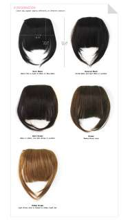 100% Human Clip Hair Extensions Chic Bang Twin fringe