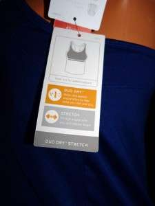 Champion Womens Blue Workout Shirt W/built in bra_XL_NWT