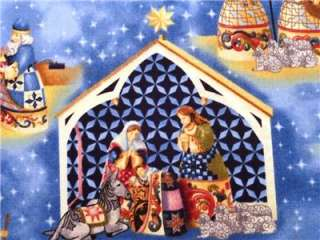 New Jim Shore Nativity Scene Christmas Religious Holiday Fabric BTY