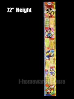 License Party Gift 72 Wall Kid Growth Up Height Measure Chart