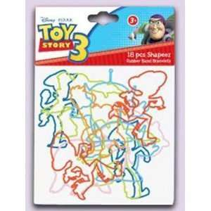 18 Pack Disney Toy Story 3 Silly Shaped Silicone Bandz Toys & Games