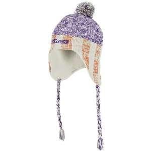 Clemson Tigers adidas Originals Heathered Tassel Knit Hat