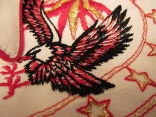 USA Eagles Western Cowboy Rockabilly Pearl Snap Shirt Sz M L