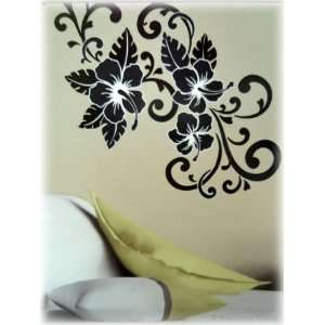 Large Hibiscus Flowers Vinyl Wall Mural Stickers Decal