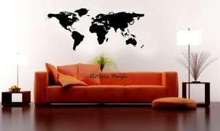 WORLD MAP DECAL STICKER WALLPAPER WALL DECAL DECOR NEW