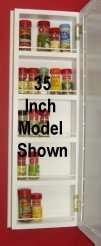 35 inch On the wall Kitchen Spice Rack Cabinet SC 235
