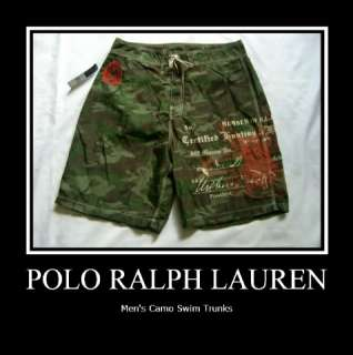 Polo Ralph Lauren Mens Camouflage Swim Trunks
